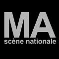 Logo MA scène nationale Fond Noir Typo Blanche